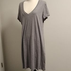 Nwot Lord & Taylor 100% cotton gray shift dress L